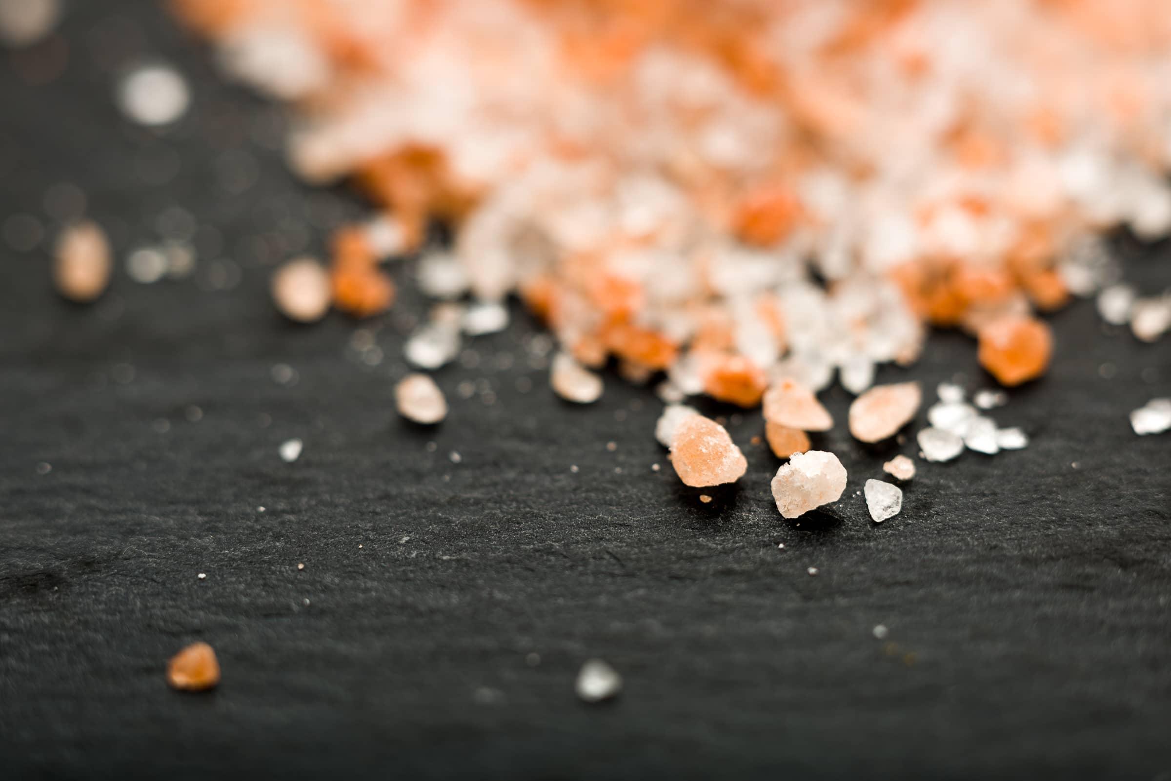 Fotografia macro di cibi - Sale rosa ingrediente 135mm + 27mm GnamAm.com