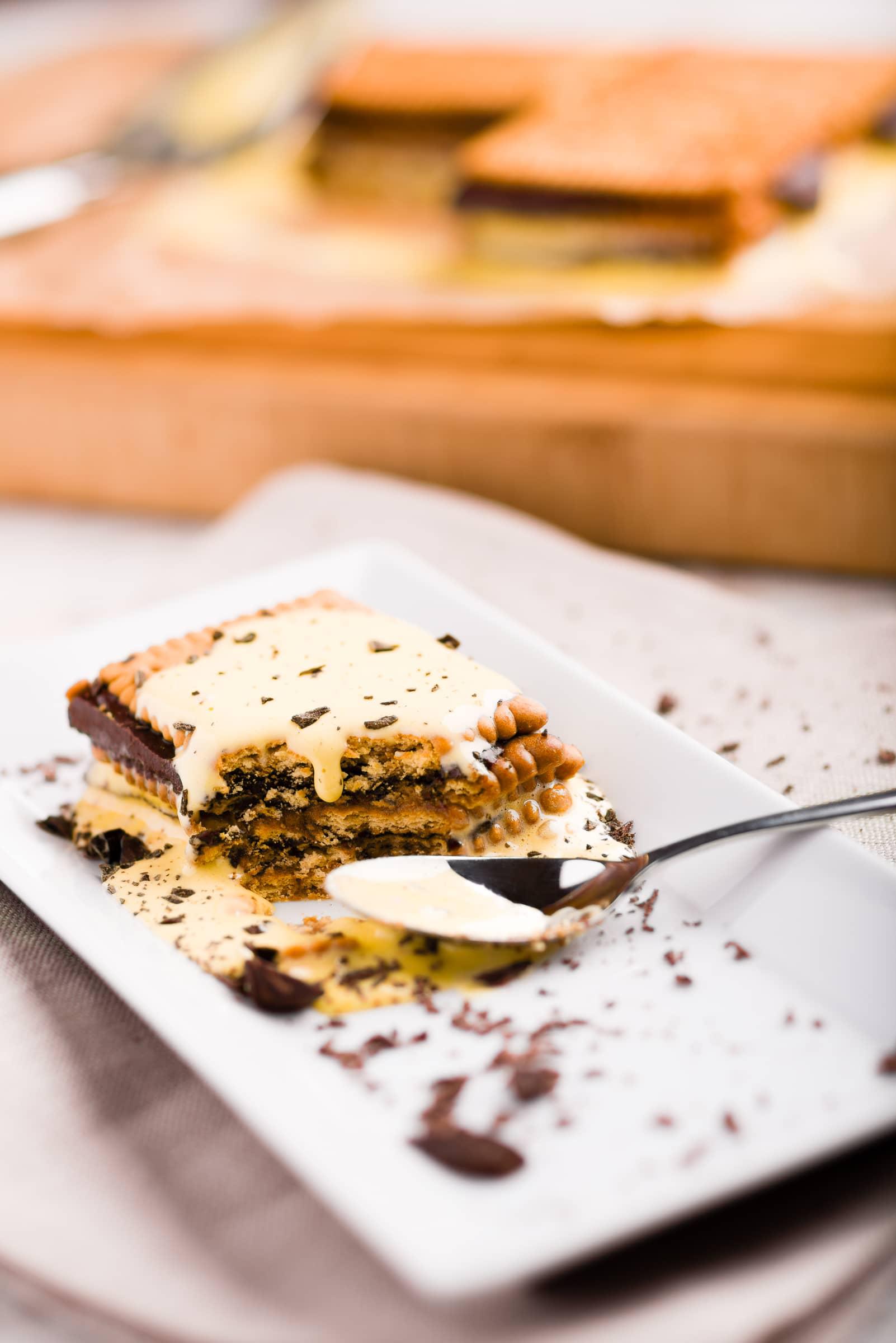 Dolce mattone o mattonella di biscotti ricetta gnamam.com