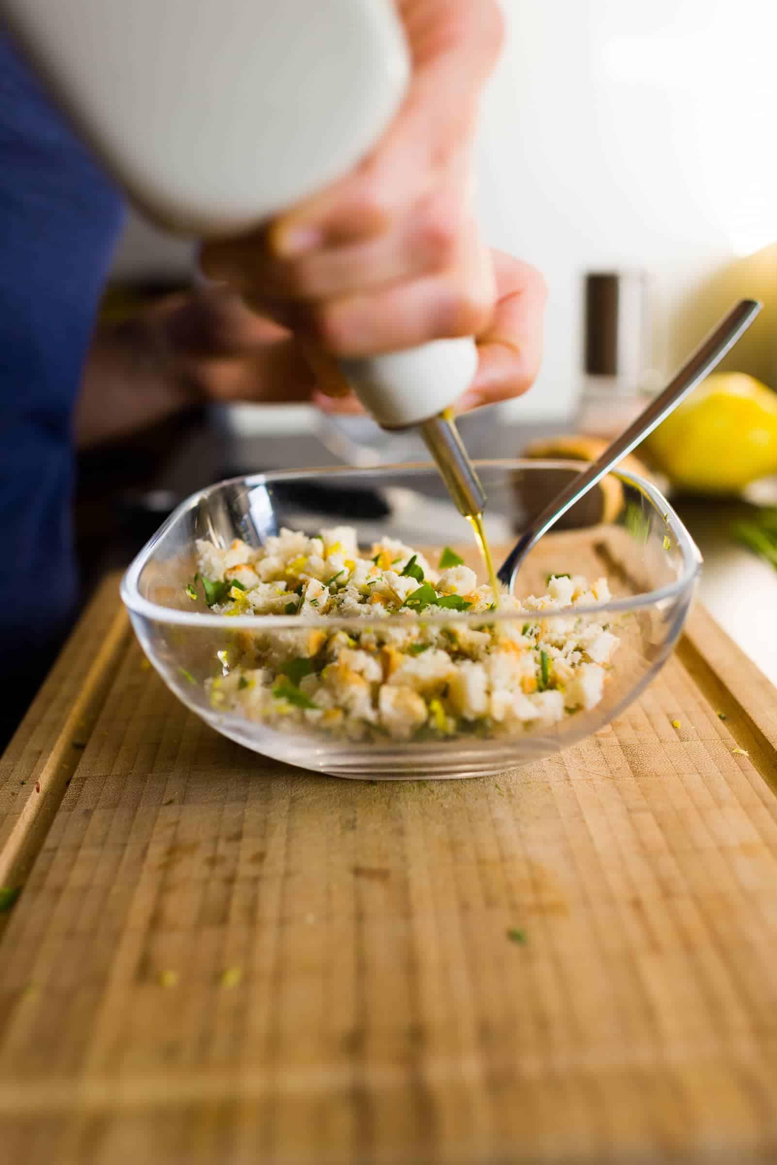 Filetto di salmone al forno con molliche di pane croccanti Prep4 Gnamam.com