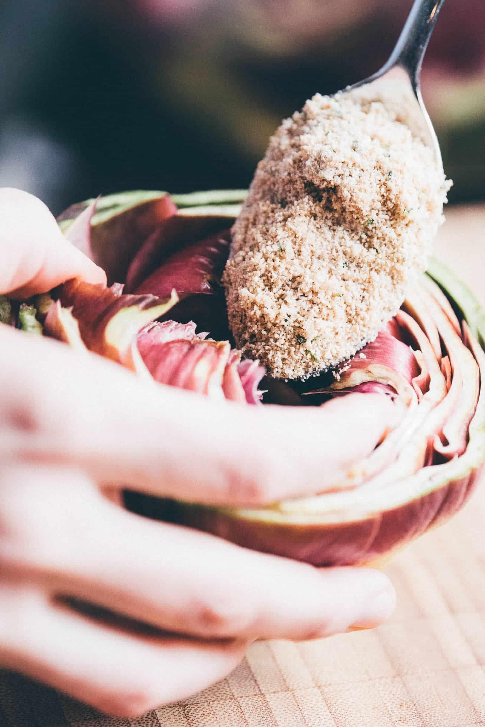 Carciofi in padella ricetta prep.19 GnamAm