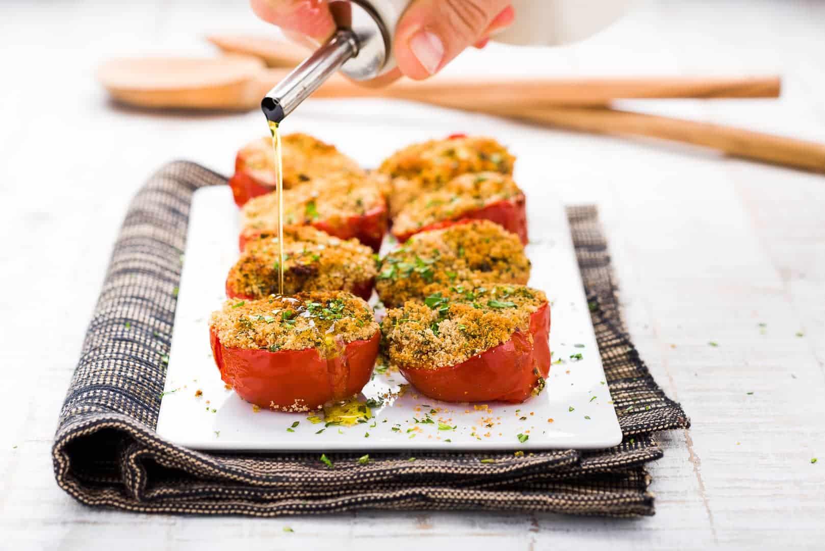 Pomodori al forno Ricetta marchigiana GnamaAm.com Hero